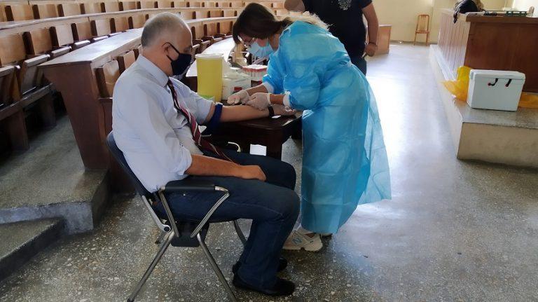 Εθελοντικός έλεγχος της πανεπιστημιακής κοινότητας του ΓΠΑ ως προς την ύπαρξη αντισωμάτων κατά του κορωνοϊού